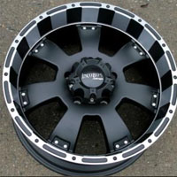 "20 x 9.0 Inch Matte Black w/ Machined - 5 Lug Lug Automotive Rims - 20"" Wheels - Set of Four"