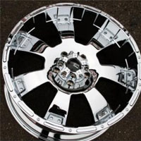 "20"" x 9.0"" Inch Triple Plated Chrome Finish - 5 Lug Automotive Rims - 20"" Wheels - Set of Four"
