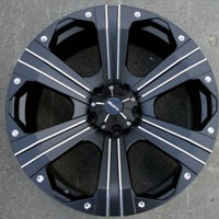 "20"" x 9.0"" Inch Black 5 Lug Automotive Rims - 20"" Wheels Set of Four"