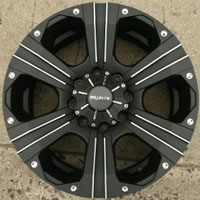 "20"" x 9.0"" Inch Black 8 Lug Automotive Rims - 20"" Wheels Set of Four"
