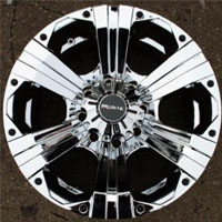 "20"" x 9.0"" Inch 8 Lug Triple Plated Chrome Automotive Rims - 20"" Wheels Set of Four"