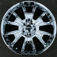 "20 x 9.0 Inch 8 Lug Triple Plated Chrome Automotive Rims - 20"" Wheels Set of Four"