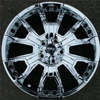 "20 x 9.0 Inch 5 Lug Triple Plated Chrome Automotive Rims - 20"" Wheels Set of Four"
