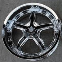 "19 x 8.5 / 19 x 9.5 - Triple Plated Chrome w/ Black Inserts Automotive Rims 19"" Wheels - Set of 4"