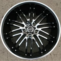 "20 x 10 - Triple Plated Chrome w/ Black Lip Automotive Rims 20"" Wheels Set of Four"