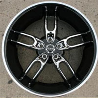 "20 x 10 - Triple Plated Chrome w/ Black Lip Automotive Rims 20"" Wheels Set of 4"