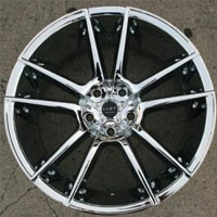 "20"" x 10"" - Triple Plated Chrome Automotive Rims 20"" Wheels Set of Four"