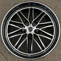 "22 x 9.0 Inch Glossy Black w/ Machined Face & Bezel Automotive Rims 22"" Wheels - Set of Four"