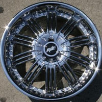 "20 x 8.0 Inch Triple Plated Chrome Automotive Rims 20"" Wheels - Set of 4"