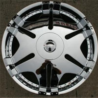 "22 x 8.5 Inch Triple Plated Chrome Automotive Mirror Rims 22"" Wheels - Set of Four"