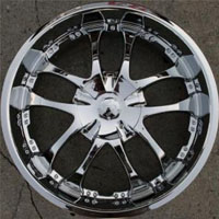 "22"" x 8.5"" Triple Plated Chrome Automotive Edge Rims 22"" Wheels - Set of Four"