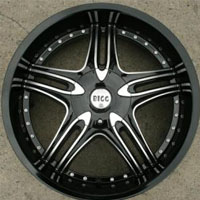 "22 x 8.5 Inch Gloss Black w/ Machined Automotive Rims 22"" Wheels - Set of 4"