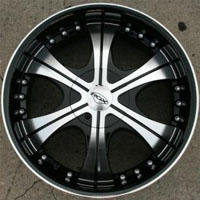 20 x 8.5 Inch Gloss Black w/ Machined Face & Lip Automotive Rims - Set of Four