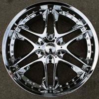 "20"" x 8.5"" Six Lug Triple Plated Chrome Automotive Rims - 20"" Wheels Set of Four"