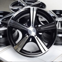 "14 Inch Black Automotive Rims 14"" Wheels - Set of 4"