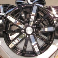 "17 Inch Black w/ Removable Chrome Insert Automotive Rims 17"" Wheels - Set of 4"