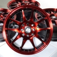 "15 Inch Black w/ Red Oil Face Automotive Rims 15"" Wheels - Set of 4"