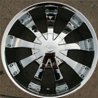 "20"" x 8.5"" Inch Triple Plated Chrome Automotive Sun Rims - Set of Four"