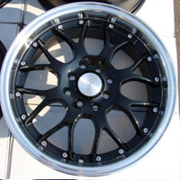 "16 Inch Black w/ Machine Lip Automotive Rims 16"" Wheels - Set of 4"