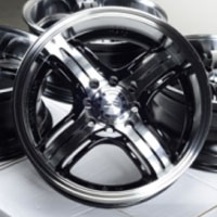 "15 Inch Black Automotive Rims 15"" Wheels - Set of 4"