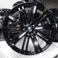 "18 Inch Black w/ Chrome Insert & BMW Emblem Automotive Rims 18"" Wheels - Set of 4"