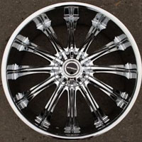 "20"" x 8.5"" Inch Triple Plated Chrome Automotive Rims 20"" Wheels Set of 4 FWD"