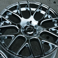 "20 x 8.5 / 20 x 10 Inch Triple Plated Chrome Automotive Rims 20"" Wheels Set of Four"