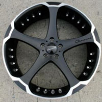 "22 x 9.0 Inch Matte Black w/ Machined Bezel Automotive Rims 22"" Wheels - Set of 4"