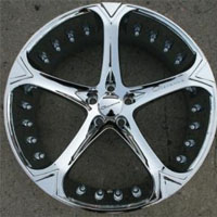 "22"" x 10.0"" Inch Triple Plated Chrome Automotive Rims 22"" Wheels - Set of 4"