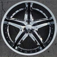 "22 x 9.0 Inch Triple Plated Chrome Automotive Rims 22"" Wheels - Set of 4"
