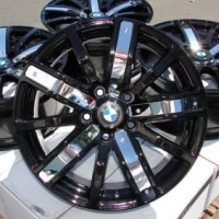"17 Inch Black w/ Chrome Insert & BMW Emblem Automotive Rims 17"" Wheels - Set of 4"