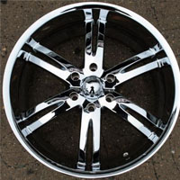"20"" x 9.0"" Triple Plated Chrome Automotive Rims - 20"" Wheels Set of Four"