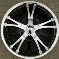 "20"" x 9.0"" Gloss Black w/ Machined Face & Lip Automotive Rims - 20"" Wheels Set of Four"