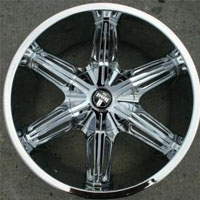"20"" x 8.5"" Inch Triple Plated Chrome Finish Automotive Rims - 20"" Wheels - Set of Four"