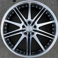 "20 x 8.0 Inch Matte Black w/ Machined Face & Lip Automotive Rims 20"" Wheels - Set of 4"