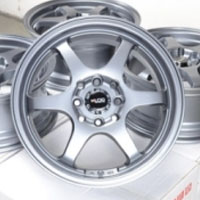"15 Inch Gunmetal Lip Automotive Rims 15"" Wheels - Set of 4"
