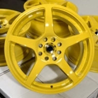 "16 Inch Yellow Automotive Rims 16"" Wheels - Set of 4"
