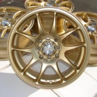 "15 Inch Gold Automotive Rims 15"" Wheels - Set of 4"