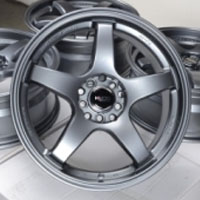 "17 Inch Gun Metal Automotive Rims 17"" Wheels - Set of 4"