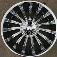 "Set of Four 20"" x 8.5"" Inch Automotive Sun Rims w/ Triple Plated Chrome Finish"