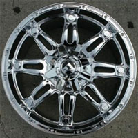 "20"" x 9.0"" Inch Triple Plated Chrome Finish 5 Lug Automotive Rims - 20"" Wheels - Set of Four"