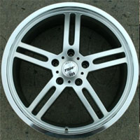 "18 x 8.0 Inch Hyper Silver Automotive Rims 18"" Wheels - Set of 4"