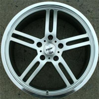 "19 x 8.0 Inch Hyper Silver Automotive Rims 19"" Wheels - Set of 4"