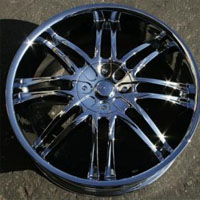 "20 x 7.5 Inch Triple Plated Chrome Automotive Rims 20"" Wheels - Set of 4"