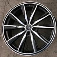 "19 Inch Black w/ Machined Face & Lip Automotive Rims 19"" Wheels - Set of 4"