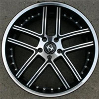 "20 x 8.5 Inch Matte Black w/ Machined Face & Bezel Automotive Rims 20"" Wheels - Set of 4"
