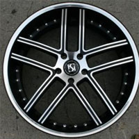 "22 x 9.0 Inch Matte Black w/ Machined Face & Bezel Automotive Rims 22"" Wheels - Set of Four"