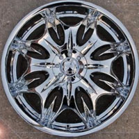 "22"" x 8.5"" Triple Plated Chrome Automotive Star Rims 22"" Wheels - Set of Four"