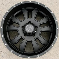 "20 x 9.0 Inch Matte Black - 5 Lug - Automotive Rims - 20"" Wheels Set of Four"