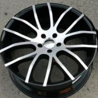 "20 x 8.5 / 20 x 10.0 Inch FWD Black w/ Machined Face Automotive Rims 20"" Wheels - Set of 4"